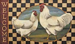 Rooster Welcome Decorative Floor Mat
