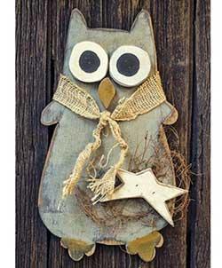 Primitive Owl Wall Decor