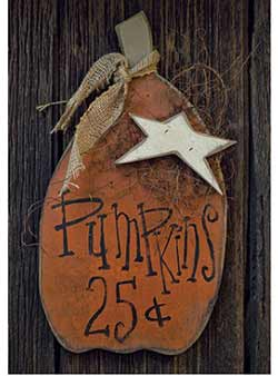 Pumpkins Sign with Star