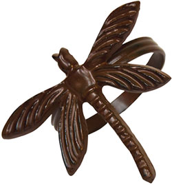 Rusty Dragonfly Napkin Rings (Set of 6)