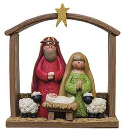 Manger Nativity Scene Figurine