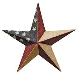Burlap Patriotic Barn Star - 12 inch
