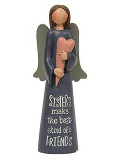 Sisters Angel with Heart