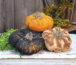 Grungy Pumpkins (Set of 3)