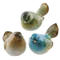 Leaf Bird Figurines (Set of 3)