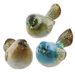 Leaf Bird Figurines (Set of 3)
