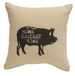 Home Sooieet Home Pig Throw Pillow