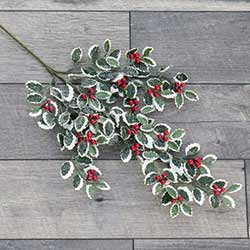 Holly & Berries Floral Spray