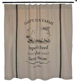 Happy Hog Farms Shower Curtain