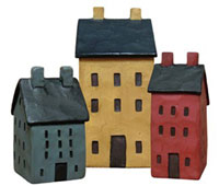 Mini Saltbox Houses (set of 3)