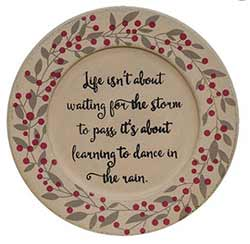 Dance in the Rain Berry Plate
