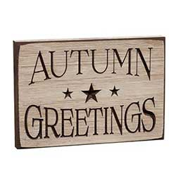 CWI Autumn Greetings Engraved Sign