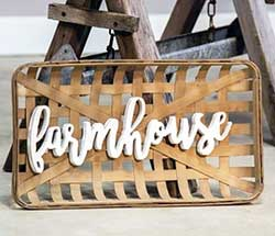 Farmhouse Tobacco Basket Wall Decor