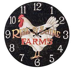 Rise & Shine Rooster Wall Clock