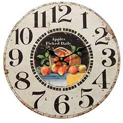 The Hearthside Collection Apples Wall Clock