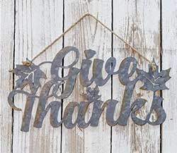 Give Thanks Tin Sign
