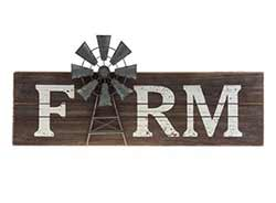Farm Windmill Sign