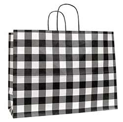 Large Buffalo Check Black Gift Bag