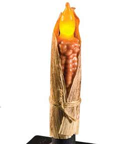 Corn Cob LED Taper Candle
