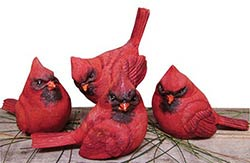 Cardinal Bird Figurine