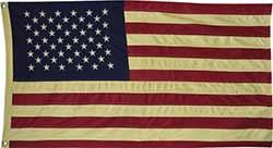 Large Tea Dyed American Flag