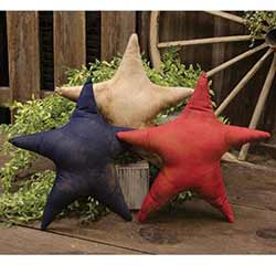 Red, White, and Blue Star Sitters (Set of 3)