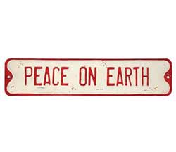 Peace on Earth Metal Sign