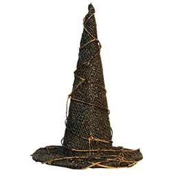 Burlap Witch Hat Accent