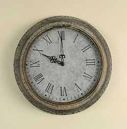 Galvanized Metal Wall Clock