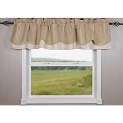 Raghu Grain Sack Multi Stripe Fairfield Valance
