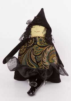 Black Paisley Medium Witch