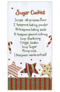 Sugar Cookies Flour Sack Towel