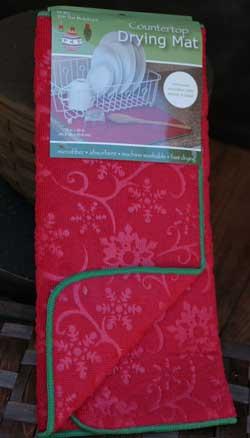 Snowflake Embossed Drying Mat