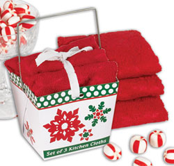 Snowflake Embossed Microfiber Dishcloth Set
