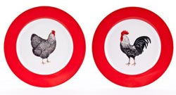Rooster Salad Plates (Set of 2)