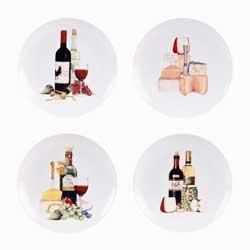 Wine Dessert Plates (Set of 4)