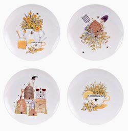 Bee Dessert Plates (Set of 4)