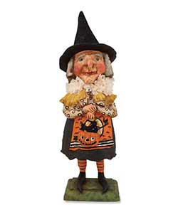 Old Witch with Jack o'Lantern