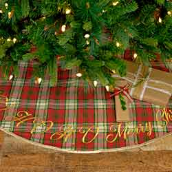 HO HO Holiday 48 inch Tree Skirt