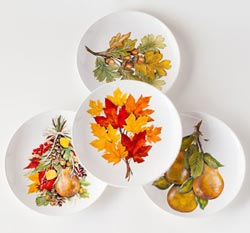 One Hundred 80 Degrees Fall Leaves Salad Plates (Set of 4)