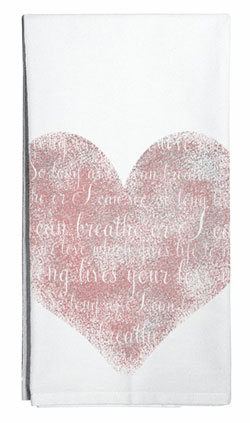 Heart Flour Sack Towel