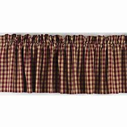 Heritage House Check Red Valance