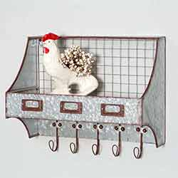 Highland Springs Wall Organizer with Hooks