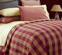 Victorian Heart Hillsdale Burgundy Coverlet - Queen