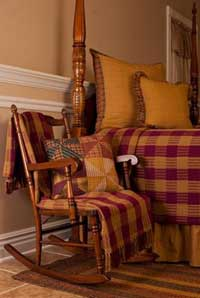 Hillsdale Burgundy Woven Throw