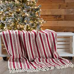 Holiday Stripe Woven Throw 60x50