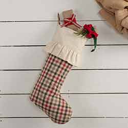 Hollis Plaid 20 inch Stocking