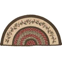 Holly Berry Jute Rug - Half Circle