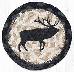 Elk Silhouette Braided Coaster