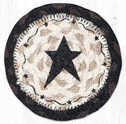 Primitive Star Black Braided Coaster